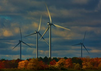 Fall Colours with Turbines